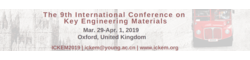 9th International Conference on Key Engineering Materials (ICKEM 2019)