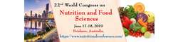 22nd World Congress on Nutrition & Food Sciences 2019