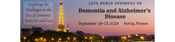 13th World Congress on Dementia and Alzheimer`s Disease 2019