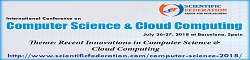 International Conference on Computer Science and Cloud Computing (ICCSCC 2018)