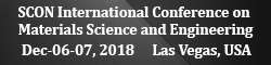 SCON International Conference on Materials Science and Engineering 2018