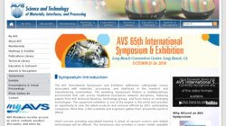 AVS 61st International Symposium and Exhibition 2014
