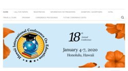 13th Annual Hawaii International Conference on Education 2015
