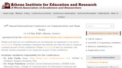 13th Annual International Conference on Communication and Mass Media 2015