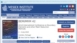 33rd International Conference on Boundary Elements and other Mesh Reduction Methods (BEM/MRM 2011)
