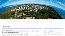 11th IEEE International Conference on Automation Science and Engineering (CASE 2015)