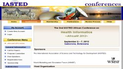 The IASTED African Conference on Health Informatics (AfricaHI 2012)