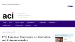 12th European Conference on Innovation & Entrepreneurship - ECIE 2017