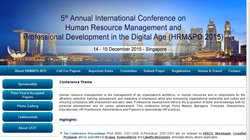 5th Annual International Conference on Human Resource Management and  Professional Development for the Digital Age (HRM & PD 2015)
