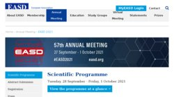 57th EASD Meeting 2021 - European Association for the Study of Diabetes
