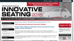 11th International Conference Innovative Seating 2016