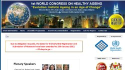 1st World Congress on Healthy Ageing 2012 - Evolution: Holistic aging in an age of change