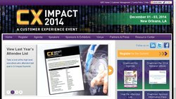CX Impact 2014 - A Customer Experience Event