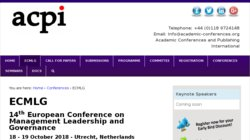 9th European Conference on Information Management and Evaluation (ECIME 2015)