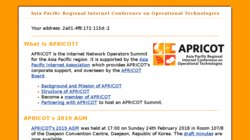 APRICOT 2016 - The Asia Pacific Regional Internet Conference on Operational Technologies