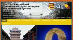 The 2nd International Conference on Digital Enterprise and Information Systems (DEIS 2013)