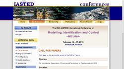 35th IASTED International Conference on Modelling, Identification and Control (MIC 2016)
