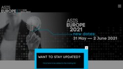 ASIS 14th European Security Conference & Exhibition 2015