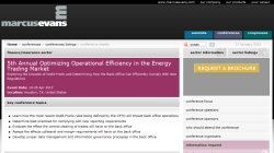 5th Annual Optimizing Operational Efficiency in the Energy Trading Market 2012