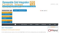 Renewable Energy & Grid Integration China Summit 2012