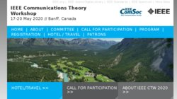 IEEE Communication Theory Workshop (CTW 2016)