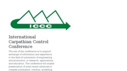 17th International Carpathian Control Conference (ICCC 2016)