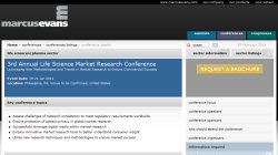 3rd Annual Life Sciences Market Research Conference 2012