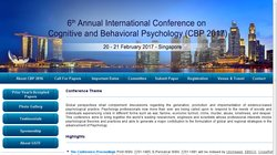 6th Annual International Conference on Cognitive and Behavioral Psychology (CBP 2017)