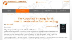 The Corporate Strategy for Information Technology 2012