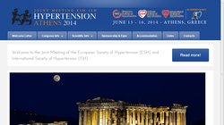 Joint Meeting of the European Society of Hypertension (ESH) and International Society of Hypertension (ISH) 2014