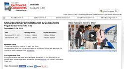 China Sourcing Fair: Electronics & Components Mumbai 2013