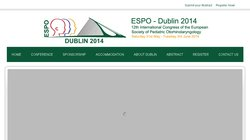 12th International Congress Of The European Society Of Pediatric Otorhinolaryngology (ESPO 2014)