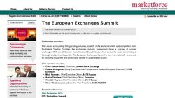The European Exchanges Summit 2012