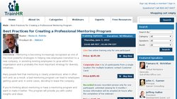 Best Practices for Creating a Professional Mentoring Program - Webinar By TrainHR 2012