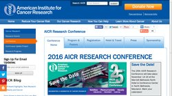 American Institute for Cancer Research (AICR) 2017 Research Conference