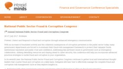5th National Public Sector Fraud and Corruption Congress 2015