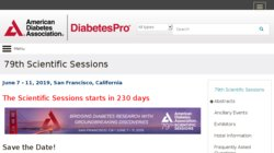 American Diabetes Association (ADA) 79th Scientific Sessions 2019