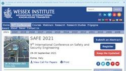 SAFE 2015 - 6th International Conference on Safety and Security Engineering