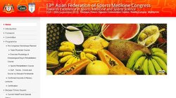 13th Asian Federation of Sports Medicine Congress 2013