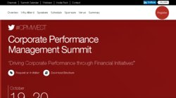 Corporate Performance Management West Summit (CPM WEST 2017)