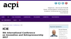 International Conference on Innovation and Entrepreneurship (ICIE 2017)