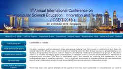 5th Annual International Conference on Computer Science Education:  Innovation & Technology (CSEIT 2014)