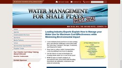 Water Management for Shale Plays West 2014