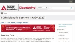 American Diabetes Association (ADA) 80th Scientific Sessions 2020