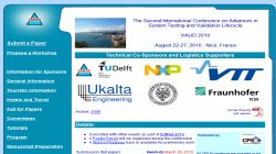 VALID 2010  , The Second International Conference on Advances in System Testing and Validation Lifecycle