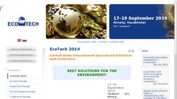 EcoTech and WaterTech Central Asia 2014