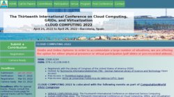 CLOUD COMPUTING 2013 - The 4th International Conference on Cloud Computing, GRIDs, and Virtualization