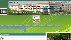 International Conference on Electronics and Communication Systems (ICECS 2014)