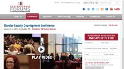 Elsevier Faculty Development Conference 2015