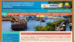 The Third International Conference on Education Technologies and Computers (ICETC2016)